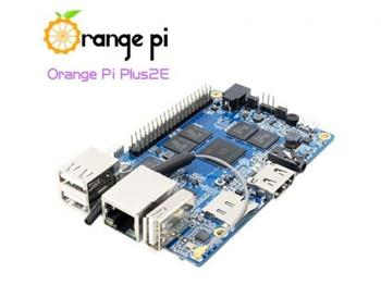 Orange Pi Plus2E, 4x1,6GHz, 2G DDR3, 16GB Flash, 1G Ethernet, WIFI