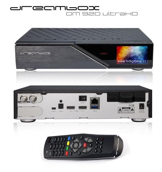 90b3252bd Satelitný 4K prijímač DVB-S/S2 Dreambox DM 920 1x DVB-S2 FBC